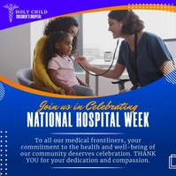 Blue National Doctors Week Instagram Video Te template