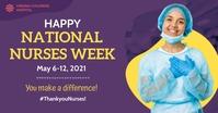 Blue National Nurses Week Facebook Post Templ template