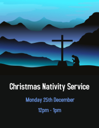 Blue Nativity Scene