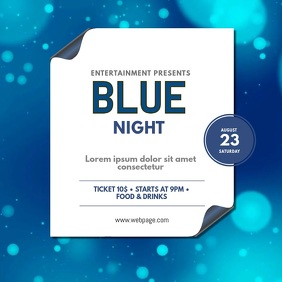 Blue Night video design template