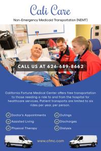 Blue Non-emergency Ambulance Service Flyer