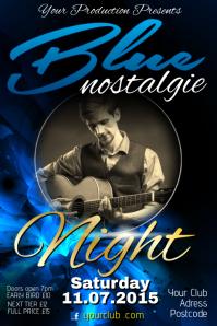 Blue Nostalgie Poster โปสเตอร์ template