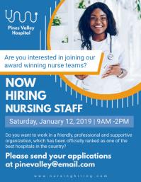 Blue Nurse Job Hiring Flyer