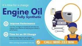 Blue Oil Change Service Video Ad