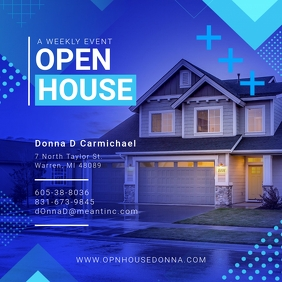 Blue Open House Online Ad
