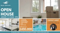 Blue Open House Real Estate Agency Ad