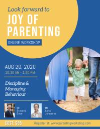 Blue Parenting Workshop Flyer