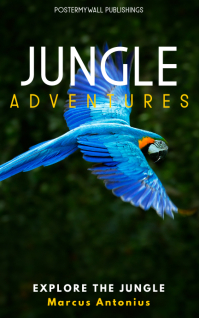 blue parrot cover design template Kindle/Book Covers