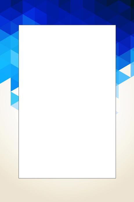 Blue Party Prop Frame