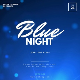 Blue party video design template instagram