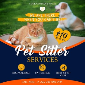 Blue Pet Sitter Services Ad Instagram Video