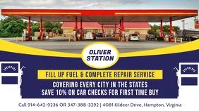 Blue Petrol Station Digital Display Ad