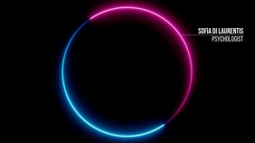 Blue Pink Center Circle Zoom Background 演示(16:9) template