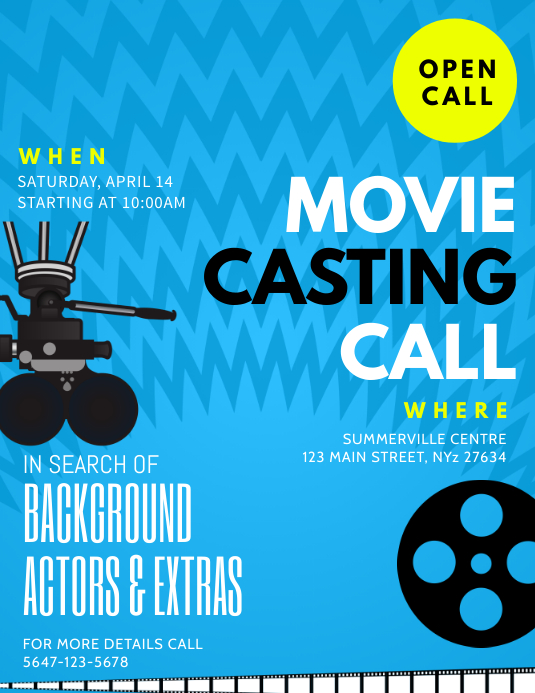 copy of blue play auditions casting call flyer