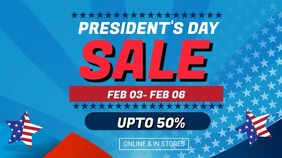 Blue Presiden's Big Sale Video Ad Template Digitale display (16:9)