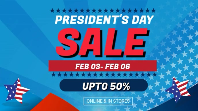 Blue Presiden's Big Sale Video Ad Template