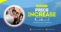 Blue Price Increase Announcement Facebook Ima template