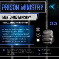 Blue Prison Ministry Instagram Post Template Instagram-Beitrag
