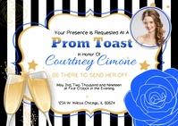 Blue Prom Send-Off Invitation