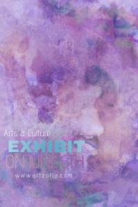 Blue Purple Paint Simple Modern Event Club Venue Art