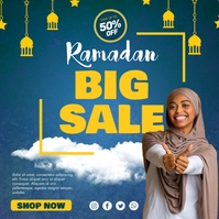 Blue Ramadan Retail Sale Instagram Post Templ Instagram-bericht template