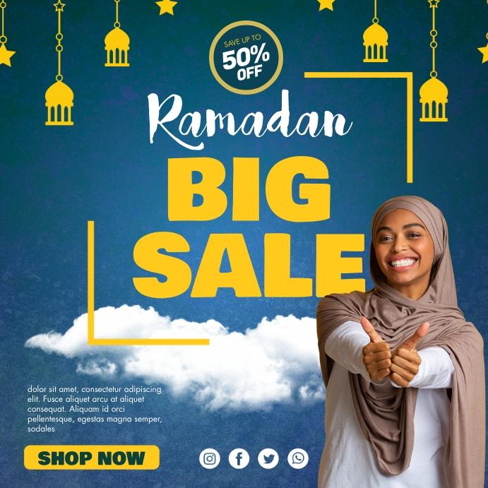 Blue Ramadan Retail Sale Instagram Post Templ Iphosti le-Instagram template