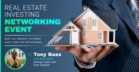 Blue Real Estata Facebook Event Image template