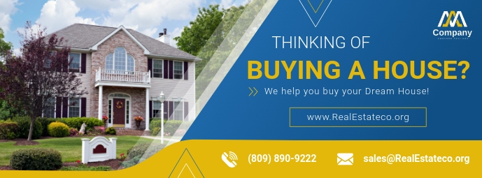 Blue Real Estate Facebook Cover Photo template