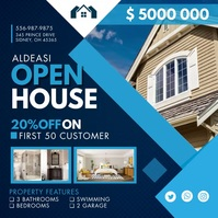 Blue Real Estate Open House Instagram Video T
