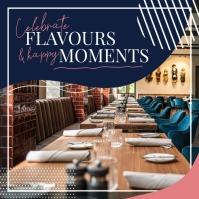 Blue Restaurant Ambience Instagram Image
