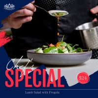 Blue Restaurant Food Instagram Image