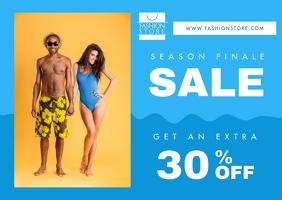 Blue Retail Sale Postcard