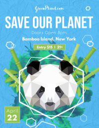 Blue Save our Planet Flyer