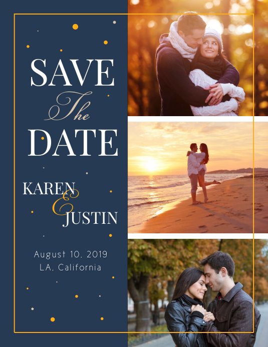 Blue Save the Date Flyer