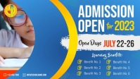 Blue School Admission Facebook Cover Video