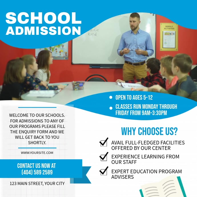 Blue School Admission Square Video