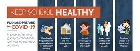 Blue School Coronavirus Prevention Facebook C template