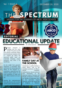 Blue School Educational Newsletter Page