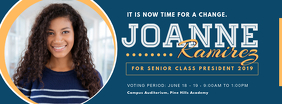 Blue School Election Campaign FB Header Facebook Cover Photo template