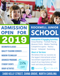 Blue School Open house Admission Poster