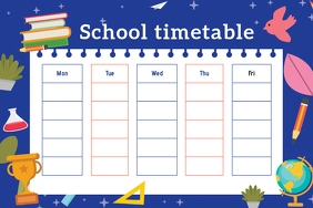 Blue School Timetable Poster
