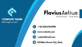 blue shades professional business card design
