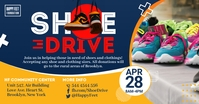 Blue Shoe Drive Charity Facebook Post Templat template