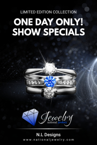Blue Silver Jewelry Limited Time Offer Flyer Plakat template