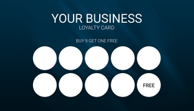Blue Simple Loyalty Card Template Carte de visite