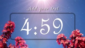 blue sky countdown Pantalla Digital (16:9) template