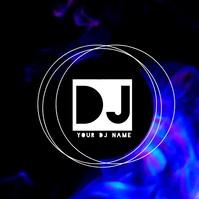 Blue Smoke Modern DJ Logo Video Logotipo template