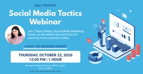 Blue Social Media Marketer Webinar Invitation