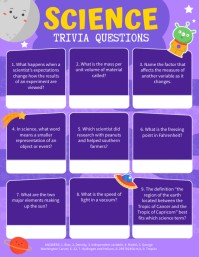 Blue Space Astronomy Trivia Answer Sheet Flye Flyer (US Letter) template