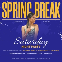 Blue Spring Break Instagram Image template